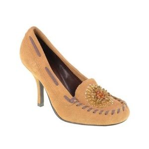 Chinese Laundry Suede Cammie Moccasin Pumps heels